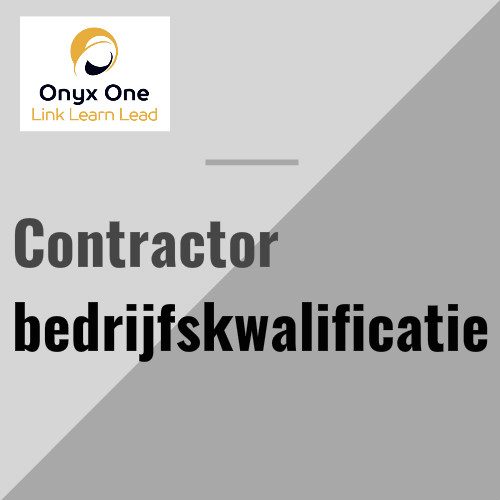 Onyx One contractor bedrijfskwalificatie
