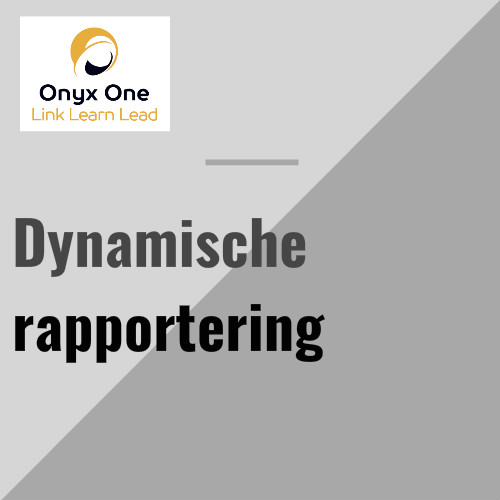Onyx One dynamische rapportering