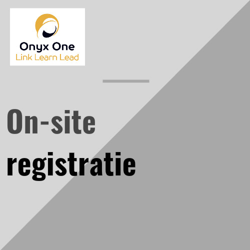 Onyx One on-site registratie