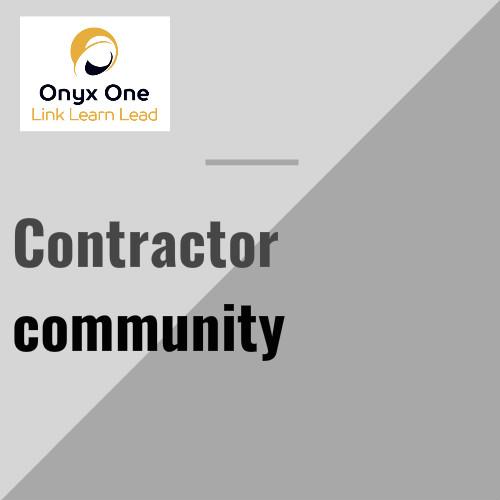 Onyx One Contractor Community